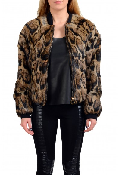 Just Cavalli 100% Rabbit Hair Full Zip Women's Basic Jacket