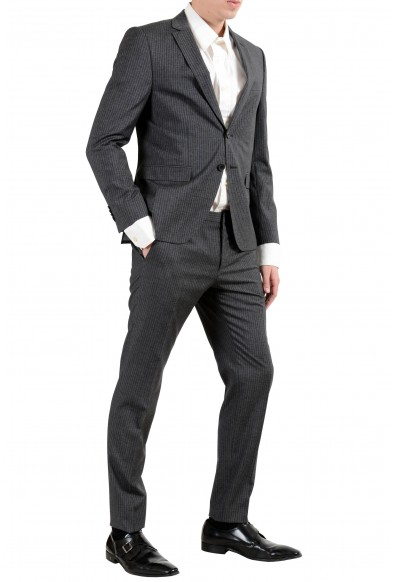 """Hugo Boss """"Reymond/Wented"""" Men's Silk Wool Striped Gray Slim Two Button Suit: Picture 2"""