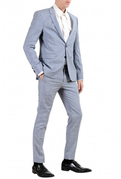 """Hugo Boss """"Phil/Taylor182"""" Men's 100% Wool Plaid Extra Slim Two Button Suit: Picture 2"""
