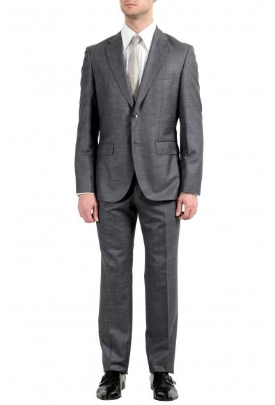 """Hugo Boss """"Johnstones4/Lenon1"""" Men's Gray Silk Wool Linen Two Button Suit"""