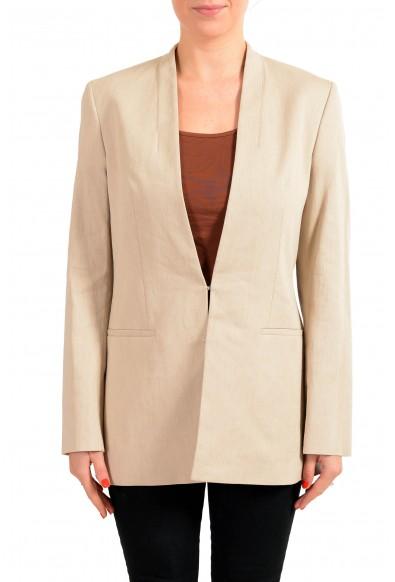 "Hugo Boss Women's ""Aresas"" Beige Linen Two Button Blazer"