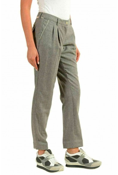 Moncler Women's 100% Wool Gray Casual Pants: Picture 2