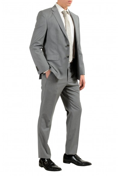 """Hugo Boss """"Johnston2/Lenon"""" Men's 100% Wool Gray Striped Two Button Suit: Picture 2"""