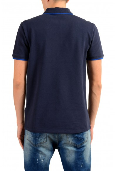 Versace Collection Men's Blue Short Sleeve Polo Shirt : Picture 2