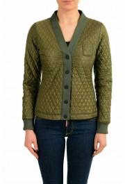 Moncler Women's MEITIN Green Quilted Light Jacket Windbreaker