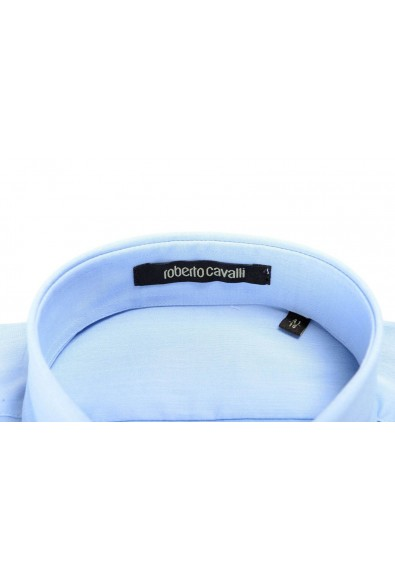 Roberto Cavalli Men's Light Blue Slim Long Sleeve Dress Shirt: Picture 2