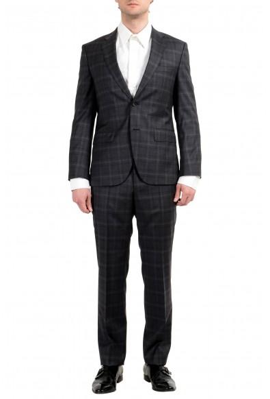 "Hugo Boss ""Johnstons3/Lenon1"" Men's 100% Wool Gray Plaid Two Button Suit"