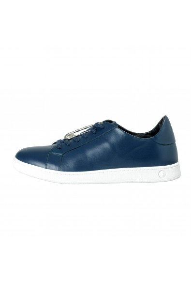 Versace Versus Men's Blue Leather Fashion Sneakers Shoes: Picture 2