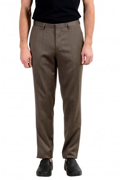 "Hugo Boss ""Adwart/Wilard/Hets"" Men's 100% Wool Brown Dress Pants"