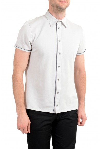 Malo Men's Gray Silk Short Sleeve Casual Shirt : Picture 2