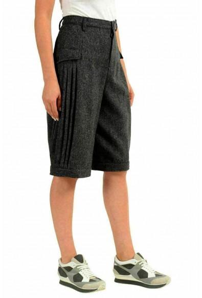 "Moncler ""Grenoble"" Women's 100% Wool Gray Winter Bermuda Shorts: Picture 2"