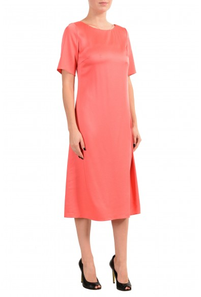 "Hugo Boss ""Dibeca"" Women's Peach 3/4 Sleeve Sheath Dress: Picture 2"