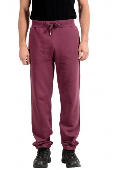 Versace Jeans Men's Burgundy Track Sweat Pants