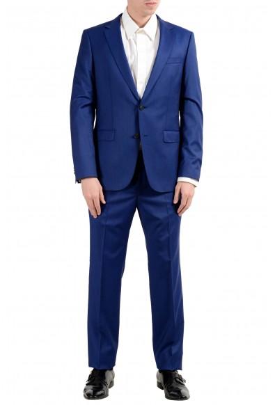 "Hugo Boss ""Nestro3/Byte1"" Men's 100% Wool Blue Two Button Suit"