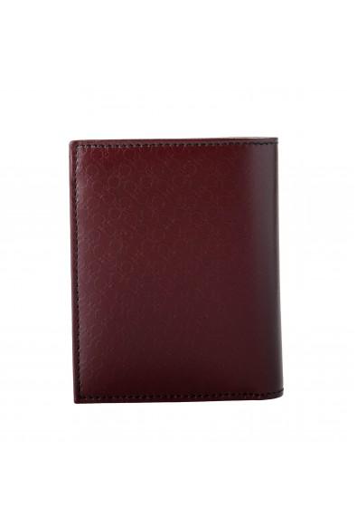 Salvatore Ferragamo Men's Wine Logo Decorated 100% Pebbled Leather Bifold Wallet: Picture 2