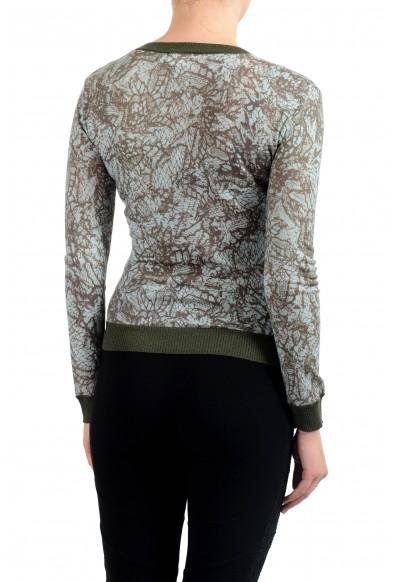 John Galliano Women's Multi-Color 100% Wool V-Neck Sweater: Picture 2