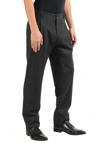 Dolce & Gabbana Men's Gray 100% Wool Pleated Dress Pants: Picture 2