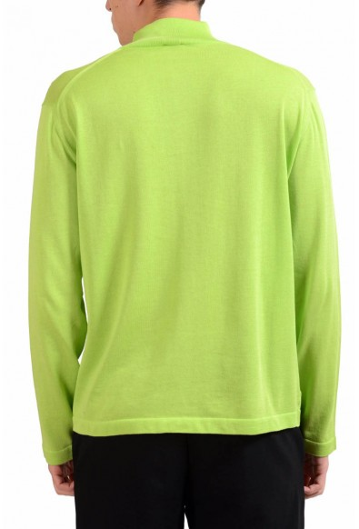 Malo Men's Light Green 1/2 Zip Pullover Sweater: Picture 2
