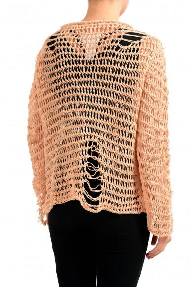 Maison Margiela 1 Beige Knitted Distressed Women's Pullover Sweater: Picture 2