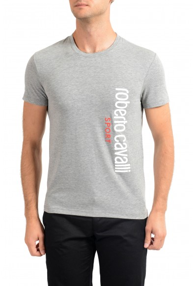 "Roberto Cavalli ""SPORT"" Men's Gray Stretch T-Shirt"