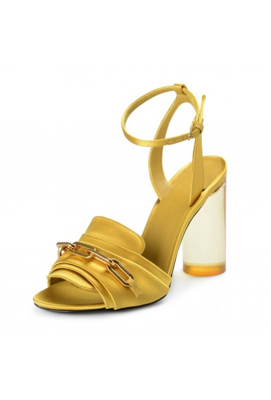 """Burberry London Women's """"COLEFORD"""" Satin Leather High Heel Sandals Shoes"""