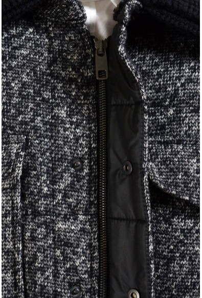 Dolce & Gabbana Men's Wool Goose Down Parka With Detouchable Collar: Picture 2