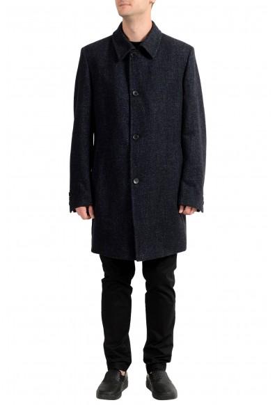 """Hugo Boss """"Task1"""" Men's Wool Four Button Coat"""