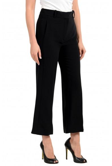Versace Women's Black 100% Silk Cropped Dress Pants: Picture 2
