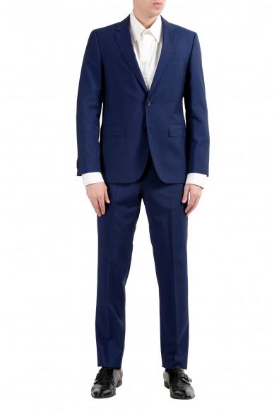 """Hugo Boss """"Jeffery/Simmons182"""" Men's 100% Wool Blue Two Button Suit"""