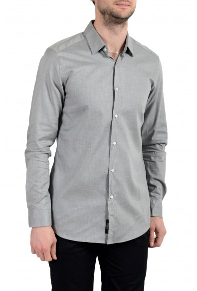 "Hugo Boss ""T-Charlie"" Men's Tailored Slim Fit Gray Dress Shirt : Picture 2"