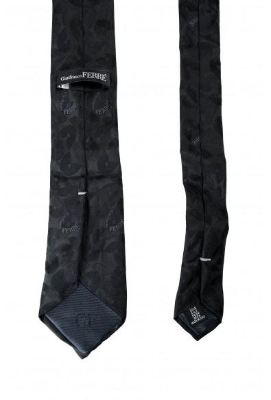 Gianfranco Ferre Men's Gray Logo Print 100% Silk Neck Tie: Picture 2
