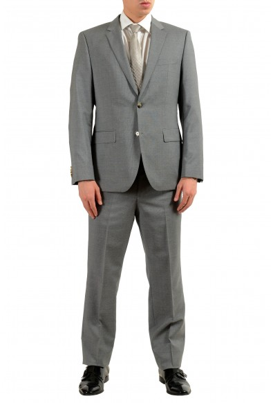 """Hugo Boss """"TheGrand1/Central1US"""" Men's 100% Wool Gray Striped Two Button Suit"""