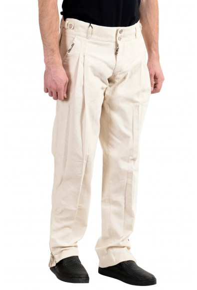 Dolce&Gabbana Men's Off White Pleated Corduroy Casual Pants: Picture 2
