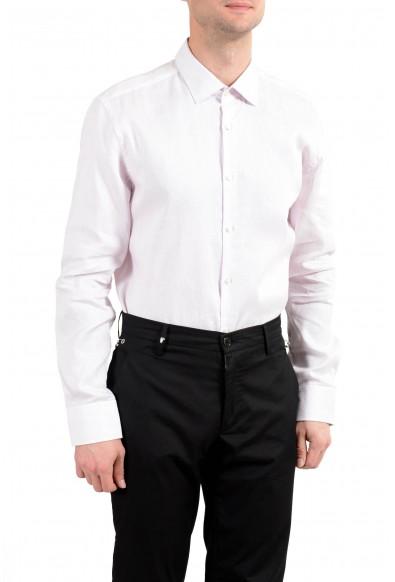 """Hugo Boss """"Jenno"""" Men's Striped Linen Slim Long Sleeve Dress Shirt: Picture 2"""
