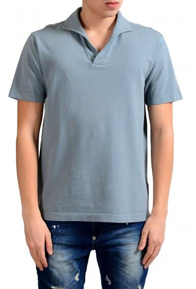Malo Men's Stone Blue Short Sleeve Polo Shirt