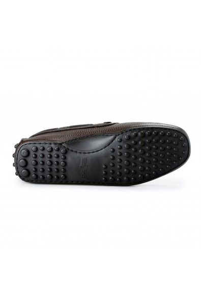 Car Shoe By Prada Men's Brown Textured Leather Driving Shoes: Picture 2