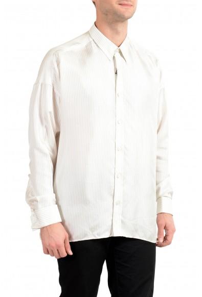 "Hugo Boss Men's ""Mickey_RW"" 100% Silk Striped Long Sleeve Shirt"