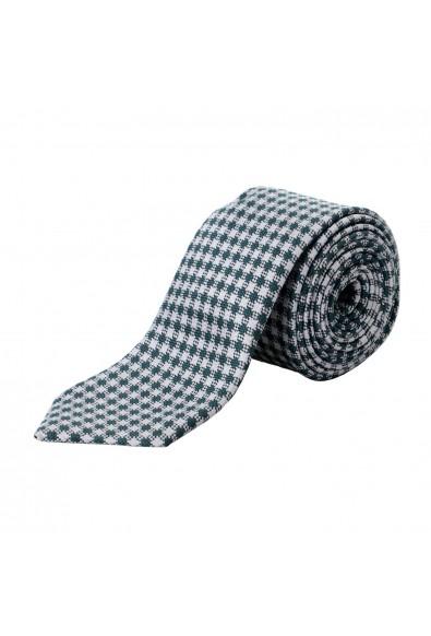 Z Zegna Men's Gray Geometric Print Silk Tie
