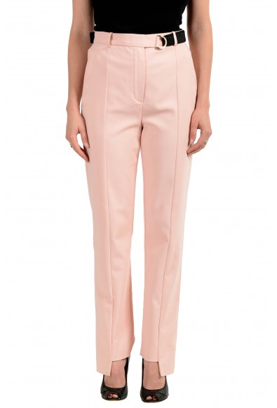 Versace Women's Light Pink Belted Pants