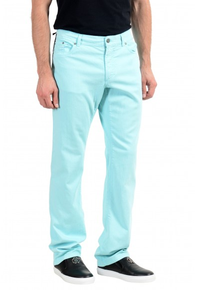 """Versace Collection """"Slim"""" Men's Turquoise Straight Leg Jeans: Picture 2"""