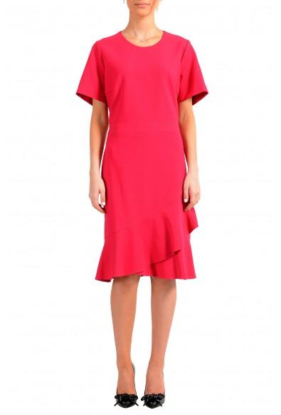"Hugo Boss Women's ""Kasica"" Bright Pink Short Sleeve Shift Dress"