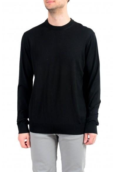 Versace Men's Wool Black Crewneck Pullover Sweater