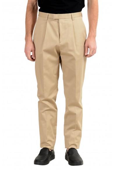 "Hugo Boss ""T-Borden"" Men's Beige Pleated Casual Pants"