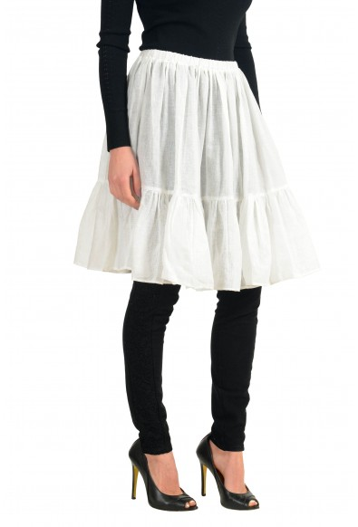 Red Valentino Spa White See Through Elastic Waist Women's Skirt: Picture 2