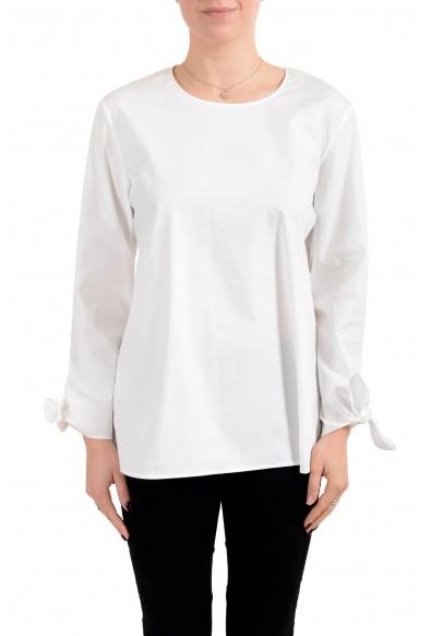 "Hugo Boss Women's ""Isolema"" White Blouse Top Shirt"