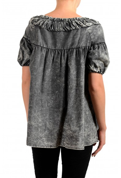 Just Cavalli Women's Gray Blouse Top: Picture 2