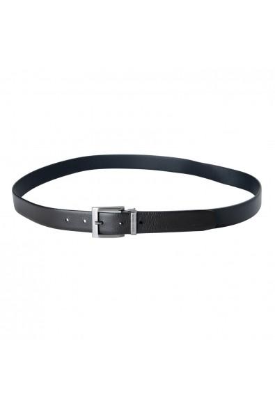 Giorgio Armani 100% Leather Black Reversible Men's Belt