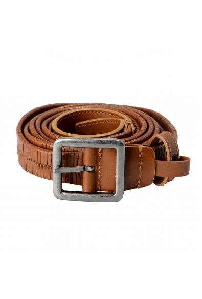 Versace 100% Leather Brown Men's Double Wrap Belt