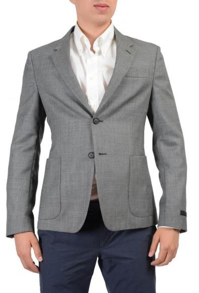 Prada Wool Silk Gray Two Buttons Men's Blazer