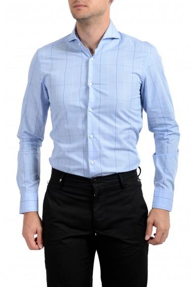 "Hugo Boss Men's ""Dwayne"" Slim Fit Plaid Long Sleeve Dress Shirt : Picture 2"